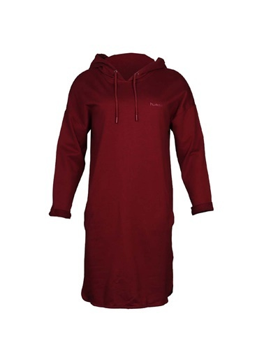 Hummel Kadın Elbise Fontane Hoodie 920707-9800 Kırmızı